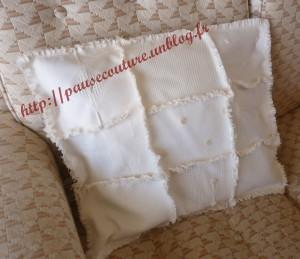 Coussin Rag Quilt Blanc (4)b
